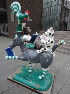 Werder Bremen Spieler und die Stadtmusikanten